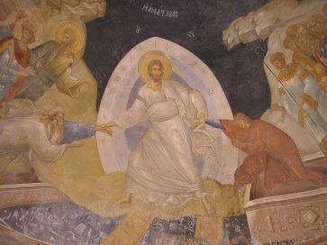 Feltámadás freskó a konstantinápolyi Chora templom parecclesionjában
