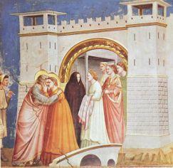 Giotto, Szent Anna és Szent Joachim találkozása az Arany Kapunáll