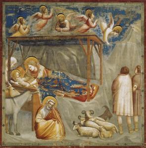 Giotto di Bondone: Jelenetek Krisztus életéből. 1. Jézus születése,  1304-6. Padova