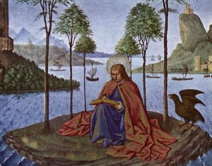 Szent János evangelista. Forrás: http://catholiclane.com/the-word-made-fresh-the-second-and-third-epistles-of-saint-john-the-apostle/st-john-evangelist/