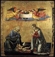 Domenico Ghirlandaio, Urunk születése. 1492 körül. Forrás: http://www.wikipaintings.org/en/domenico-ghirlandaio/the-nativity-1