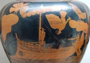 Odüsszeusz és a szirének Görög vázakép (Kr. e. 480-470)