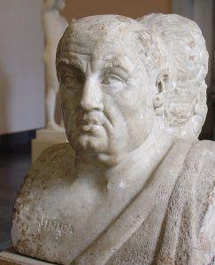 Lucius Annaeus Seneca (Kr. e. 4 k.  - Kr. u. 65) A kép forrása: http://en.wikipedia.org/wiki/File:Seneca-berlinantikensammlung-1.jpg