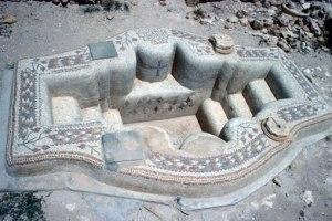 Keresztelőmedence (4-5. század), Sbeïtla, Észak-Afrika