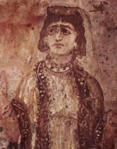 Imádkozó nő portréja - Giordani katakomba, Róma, IV. század első fele