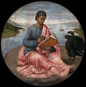 Domenico Ghirlandaio - Szent János evangelista Patmosz szigetén (1480-1485)