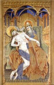 Robert Campin Szentháromság (1433) Kunsthistorisches Museum, Vienna, Austria