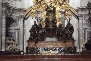 Cathedra Petri - Szent Péter bazilika, Róma. A szerző felvétele
