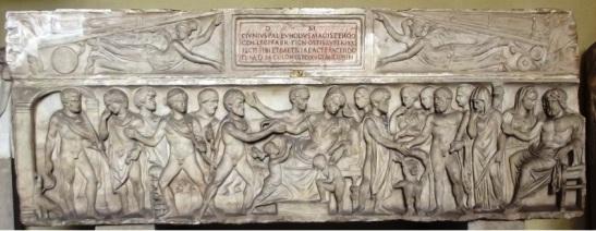Az Euhodus-szarkofág. Vatikán, Chiramonti Museum.