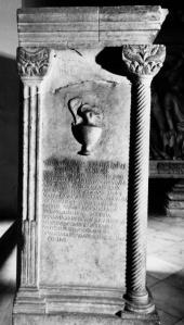 Praetextatus és Paulina sírfelirata, Kr. u. 384, Róma, Museo Capitolino