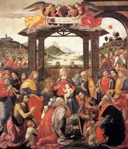 Domenico Ghirlandaio, A pásztorok hódolata. 1485. Spedale degli Innocenti, Firenze