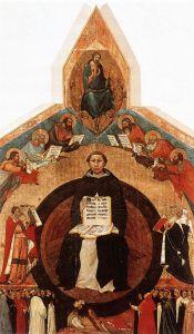 Francesco Traini: Szent Tamás győzelme. 1340 k. Santa Caterina, Pisa.