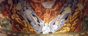 Angyali karok - Antoniazzo Romano freskója a Bésszarion kápolnában, Róma, XII Apostol bazilikája, 15. század vége