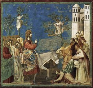 Giotto: Bevonulás Jeruzsálembe, Capella degli Scrovegni, Padova, 1305 k.