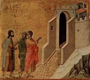 Duccio di Buoninsegna, Emmausz. 1308-1311, Siena, Museo dell'Opera del Duomo