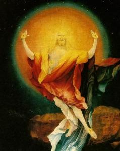 Matthias Grünewald, Jézus feltámadása, részlet az isenheimi szárnyasoltárról