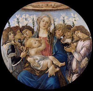Botticelli, Madonna a gyermekkel és éneklő angyalokkal. 1477. Gemäldegalerie, Berlin