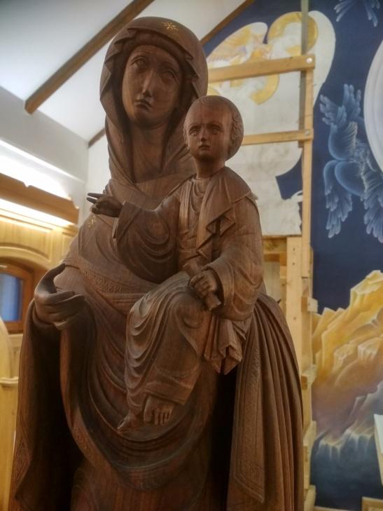 Magyarszék hodigitria szobor részlet